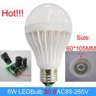 LED Plastic Bulb smd5730 6W led bulb $0.8/pc led light ac85-265v