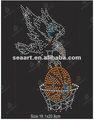 eagle de baloncesto rhinestone transferencias de calor para el diseño de prendas de vestir