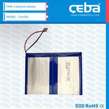 CEBA 550 mAh li-po lithium polymer battery Small Size