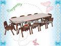 Pintados a mano de mesa y sillas, Muebles para niños mesa de estudio y sillas, Estudio sillas mesas muebles de madera