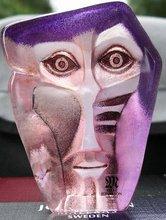 Mats Jonasson Art Glass Sculpture Geno