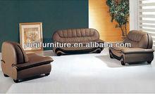 Europe Moden Simple Top Grain Leather Sofa Classic Black and White Sofa and Chair Set dubai leather sofa furniture 613-19