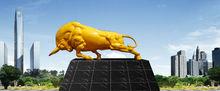 Large Modern Famous cast copper Titanize Bull Sculpture
