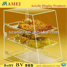 POP acrylic cake display shelf/acrylic shelf/acrylic