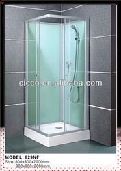 Simple Design 6mm Tempered Glass Sliding Door Steam Shower Cabin Wheel