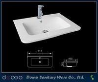 One Piece Public Commercia Bathroom Sink Countertop