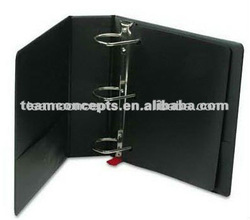 wholesale embossed faux leather 3 ring binder