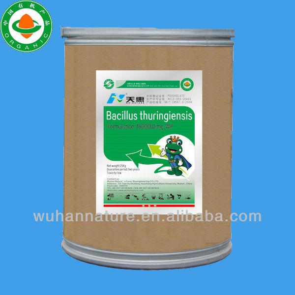 Organic Bio-pesticide Bacillus Thuringiensis ( BT) 16000IU/mg WP