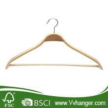 Short clothes hanger/ LH099 Lamination wooden clothes hanger with non-slip pant bar