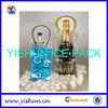 Clear plastic bottle cooler