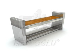 Stainless Steel-Wood Bench