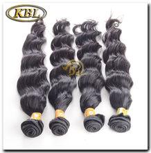 no shed virgin peruvian human hair wavy black hair extensions