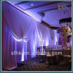 Wedding decoration curtains with adjustible pipes