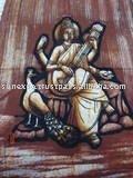 Lord Saraswati Batik Painting Wall Hanging