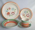 Sunflower 20pcs Ceramic Handpainted new year tableware