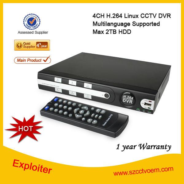 4-ch h. 264 dijital video kaydedici D1/CCTV güvenlik dvr/dvr ir uzaktan kumanda ve akıllı telefon görünümünde