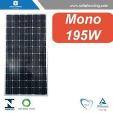 High Efficiency 195W CE/TUV Monocrystalline Silicon photovoltaic Solar Panels