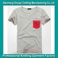 t shirt poche avec contraste de couleur de fil à coudre de marque de mode vêtements american apparel