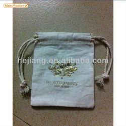 Custom printed hot stamping logo small drawstring cotton bag for gift,cotton drawstring bag