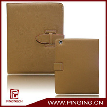 Pure colour business wallet leather case for ipad 2,tablet case for ipad 2