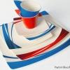 Royal Fine China by Royal Porcelain Thailand: 98 PCS. DINNER SET FOR 12: Payton Red