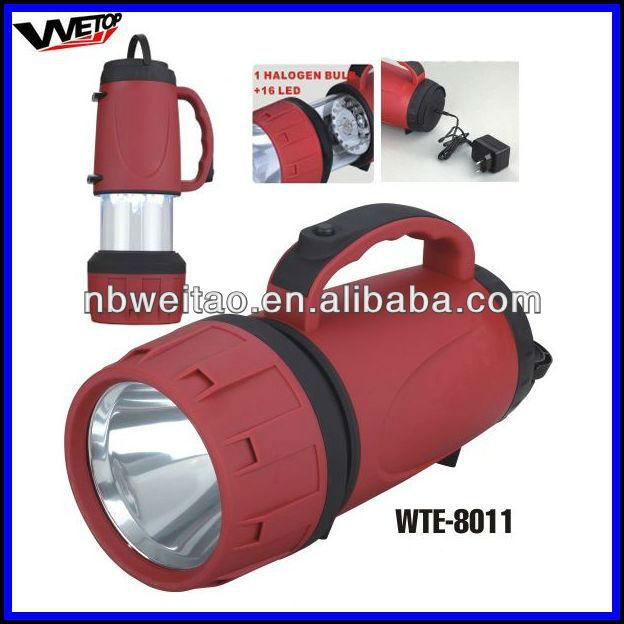 super bright 1 halogen bulb+16led LED rechargeable lantern