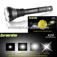 Bronte X20 U2 tactical light 800 lumen Gun Flash Light w/ Side Switch - CREE XM-L U2