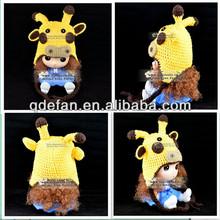 handmade animal knitted hat crochet winter earflap baby beanie acrylic