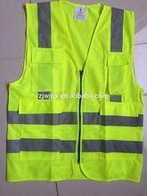 Hi Viz safety vest reflective vest with pockets and zipper
