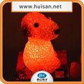 Snoopy de dibujos animados de navidad decoraciones/led que cambia de color la luz/snoopy de plástico juguetes