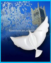 2015 white color helium dove shaped balloons wedding decoration