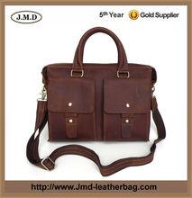 Hot Selling Genuine Leather Briefcase Messenger Bag Laptop Bag Men # 7001R