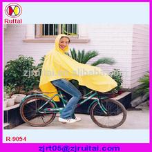 0.32mm PVC/polyester bicycle rain poncho