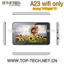 Factory supply 7 inch allwinner A23 dual core wifi digital TV ISDB-T Analog TV ATV