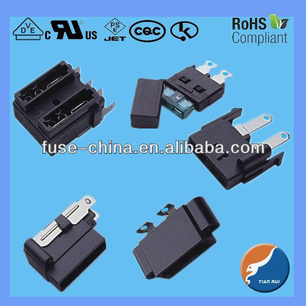 Automotive fuse holder panel mount