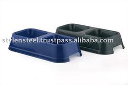 Plastic Double Diner Bowl / Pet Bowl
