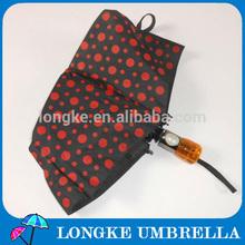 "22""*8K auto open&closed 3 folding umbrella dot design"