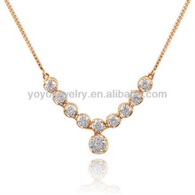 N1241 new products crystal pendant necklace coral rose necklace designs crystal pendant necklace