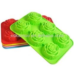 non stick silicone rose mold cupcake