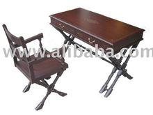 Writing Desk Nepolean solid Wooden Set