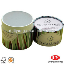 custom paper tube for chocolate bean packaging