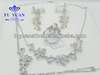 925 silver dubai jewelry for sale stain steel silver jewelry wedding jewelry sets from Fuyuan SET3760