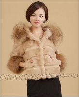 CX-G-A-147 Real Rabbit Fur Winter Coat