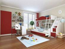 2014 new attractive wine red kids bunk bedroom furniture