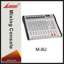 Lane M-8U 8 channel professional dj usb mixing console