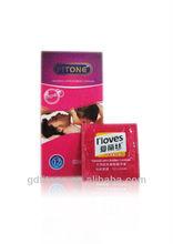 Natural latex rubber condom spike condom