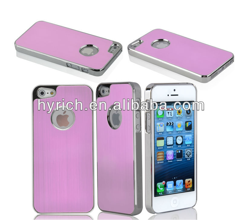 mobile phone case for iphone 5 brushed luxury aluminun cases