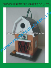 New Health Outdoor Garden Products Chickadee Pigeons Wooden Decorative Bird House Wholesale