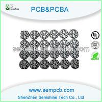Black solder mask aluminum base PCB with CNC rounting
