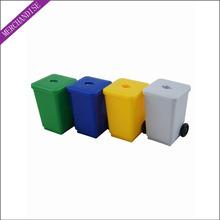 Garbage bin pencil sharpener